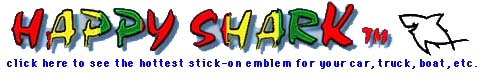 Happy SharkT Stick-on Emblem Web Page